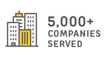 over 5000 companies served